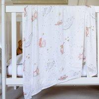 British Made Bamboo Muslin Baby Blanket, Bear