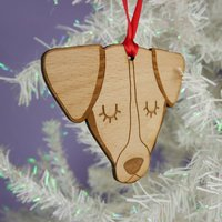 Jack Russell Wooden Christmas Ornament