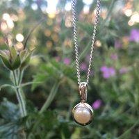 Genuine Pearl June Birthstone Pendant