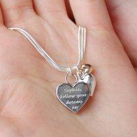 Personalised Triple Hearts Bracelet