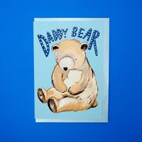 Daddy Bear Father's Day Gold Foiled Card