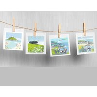 Set Of Four Cornwall Cards