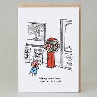 Pig In A Sweet Machine Card