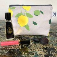 Citrus Cotton Makeup Bag