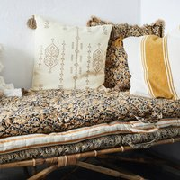 Floral Or Striped Danish Cotton Floor Mattress