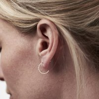 9ct Gold Scalloped Hoop Earrings, Gold