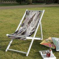 Soothing Calm White Traditional Canvas Deckchair