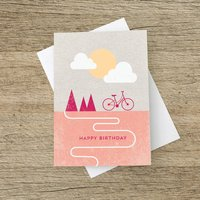 'Happy Birthday' Bicycle Card