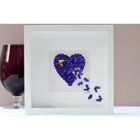 Pet Memorial Butterfly Heart Framed, Strawberry/Red/Aquamarine