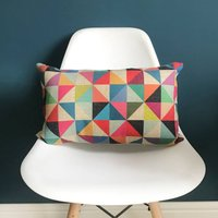 Geometric Triangle Bolster Cushion