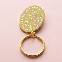 She Believed She Could Keyring