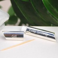 Personalised Silver Toothpick Holder