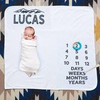 Personalised Wilderness Baby Milestone Blanket