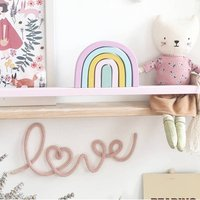 'Love' With Loveheart Wire Crochet Lettering