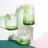 Bright Green 100% Recycled Glass Tumbler Various Sizes