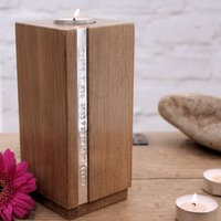 Personalised Wooden Candle Holder