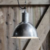 Hot Dipped Industrial Outdoor Domed Pendant Light