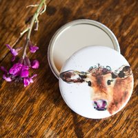 Inky Cow Pocket Compact Mirror