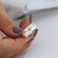 Personalised Siver And Ruby Ring