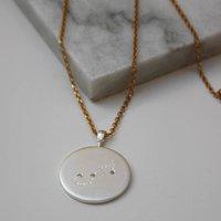 Constellation Necklace With Diamonds Scorpio Star Sign