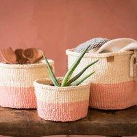 Dusky Pink Colour Block Basket