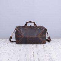Vintage Look Leather Holdall