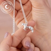 Unicorn Necklace With Personalised Message Card