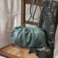 Cloud Crossbody Clutch Blue Leather Bag