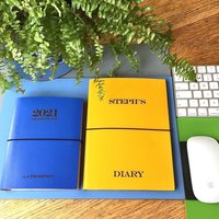 Personalised 2021 Leather Diary