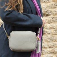 Personalised Cross Body Box Leather Handbag