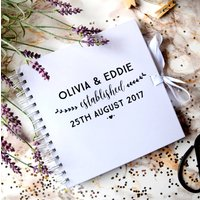 Personalised Monochrome Wedding Guest Book