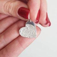 Fingerprint Stamp Heart Charm