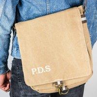 Personalised Vintage Canvas Messenger Bag