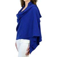 Personalised Royal Blue Pure Cashmere Travel Wrap Shawl