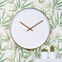 White And Copper Wall Clock