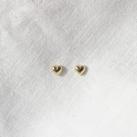 9ct Solid Gold Love Me Heart Dainty Stud Earrings, Gold