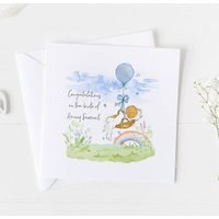 New Baby Card For Rainbow Baby, Christening Card .4v17a