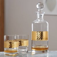 Gents Gold Whisky Decanter And Glasses Gift Set
