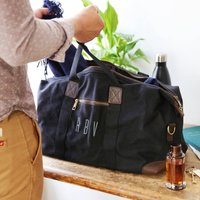 Personalised Initials Waxed Canvas Holdall