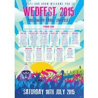 Wedfest Festival Themed Wedding Table Plan