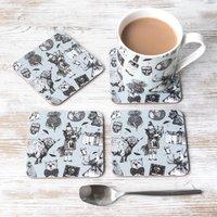 'Love Scotland' Scottish Coasters And Mug Set