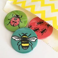 Creepy Crawly Bug Badge Set