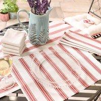 Millstone Stripe Garden Table Linen For Four