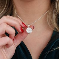 Personalised Sterling Silver Name Engraved Locket, Silver