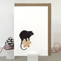 Rat Christmas Card And Pack Of Christmas Cards