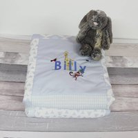 Personalised Baby Quilt Zoo Design