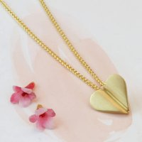 Love Grows 9ct Gold Heart Necklace, Gold