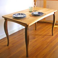 Solid Wood Dining Table With Hand Sculpted Legs