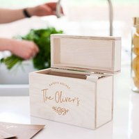 Personalised 'Family Favourites' Recipe Box