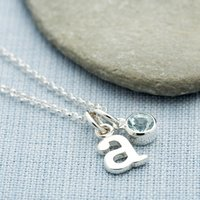 Aquamarine Necklace, March Birthstone